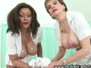 naughty older  medic obtains a white cream