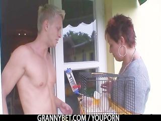 elderly drives neighbours giant penis