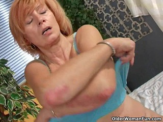 redhaired old with uneasy  nipples plays