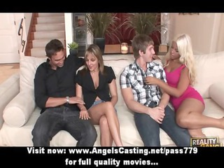 foursome swinger fuck party with hot housewifes