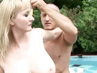 busty grandma likes awesome sex outdoor