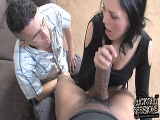 white wife acquires big black penis into front of