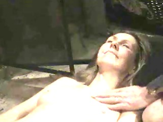 furry hippy woman let 2 men unload on her