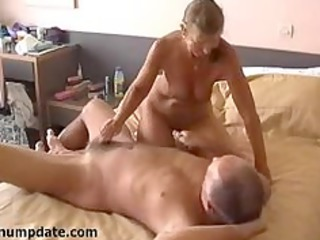 slutty housewife jerks off hubbys dick