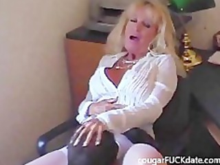 awesome old grownup in pantyhose bangs a fresh