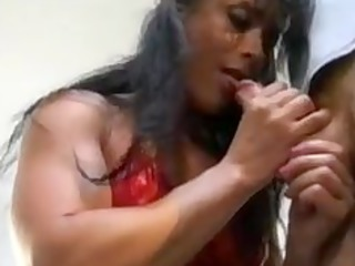 bodybuilding cougar woman anal