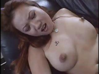 beautiful lady sin nye lang is a redheaded twin