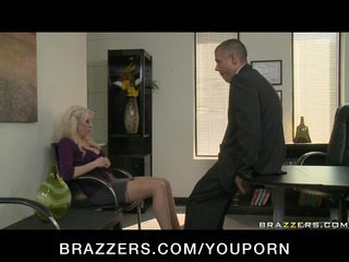 giant breast bleached lady woman in nylons pierce