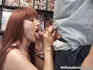 lovely brown head whore licks and rides cock part3