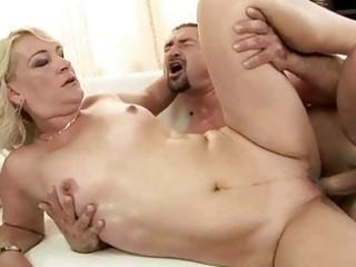 hot grandma enjoys uneasy  drilling