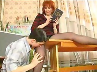 older teaches her student russian cum swallow