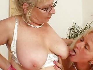 wellendowed grandma penetrates a woman