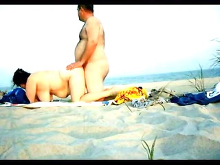 private doggy fashion fuck on the beach