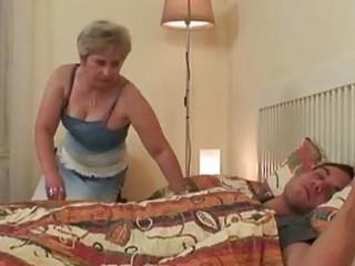 huge bossom albino elderly taking sw...