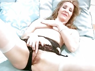 naughty grownup into underwear fist masturbation