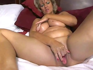 hot large tited milf pleases