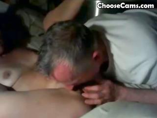 grandpa giving grandma mouth