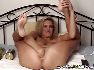 european lady with large sex toy