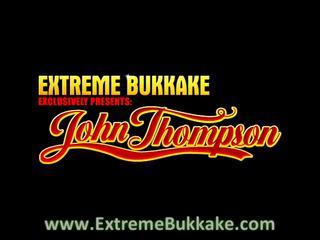 extreme bukkake with a ginger mature babe