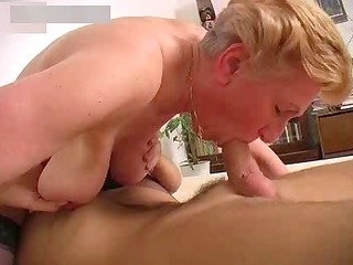 busty granny inside stockings copulates