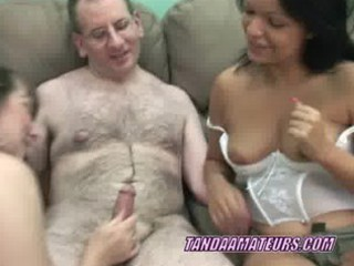 grownup sexy sharing a penis with a latino bitch