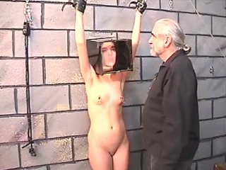 cute ebony haired angel receives restrained and