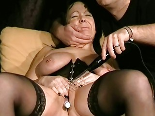 cougar bdsm and electro pain of british slaveslut