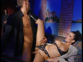 sexy lady own pierced by fucker and voyer