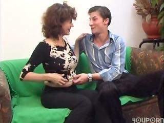 russian mature with a pure hirsute bitch