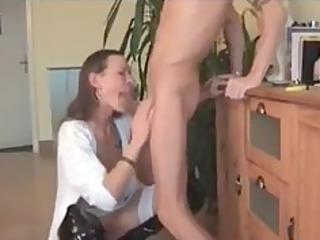 milf woman difficult oral drill
