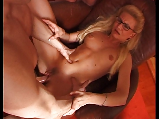 french woman with glasses into gang fuck