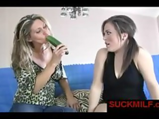 mature babe gives dick sucking lesson for younger