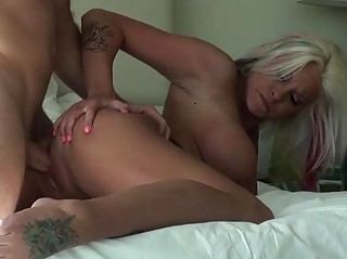large boobs mature babe picked up and gangbanged