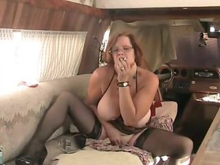 solo #4 (older red-haired with big tits)