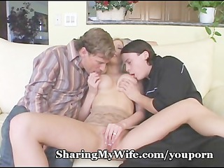 naughty triple with woman