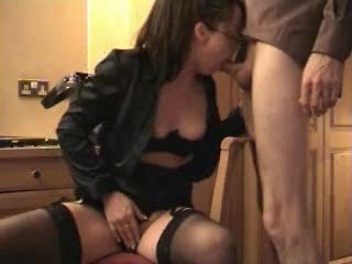 busty woman licks and acquires a facial