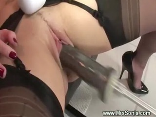 granny bitch obtains inserted by sex toy device