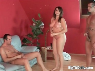 american mature babe with big bossom is being