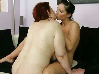 plump grandma banging horny amateur lady