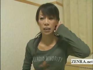 subtitled grownup woman japanese bodybuilder
