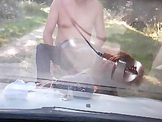 big tit lady banged outside