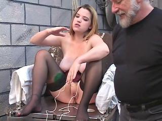 dd bondaged blond inside corset must mount