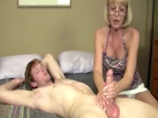 giving elderly is giving a cock massage