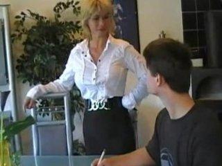german lady teaches fresh guy
