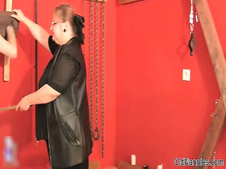 horny granny girl gets spanked part2