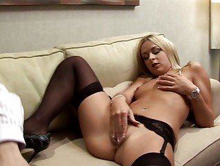 blond italian lady wills older  penis