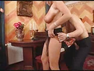 older  with large bossom gangbanged by servant man