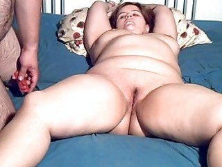 plump young mature babe toyed and cock sucking