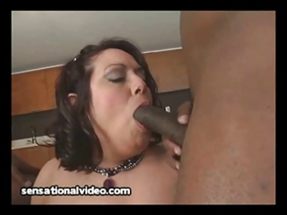 huge breast latino lady bangs 2 large brown