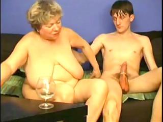 pleasing with corpulent grandma by troc